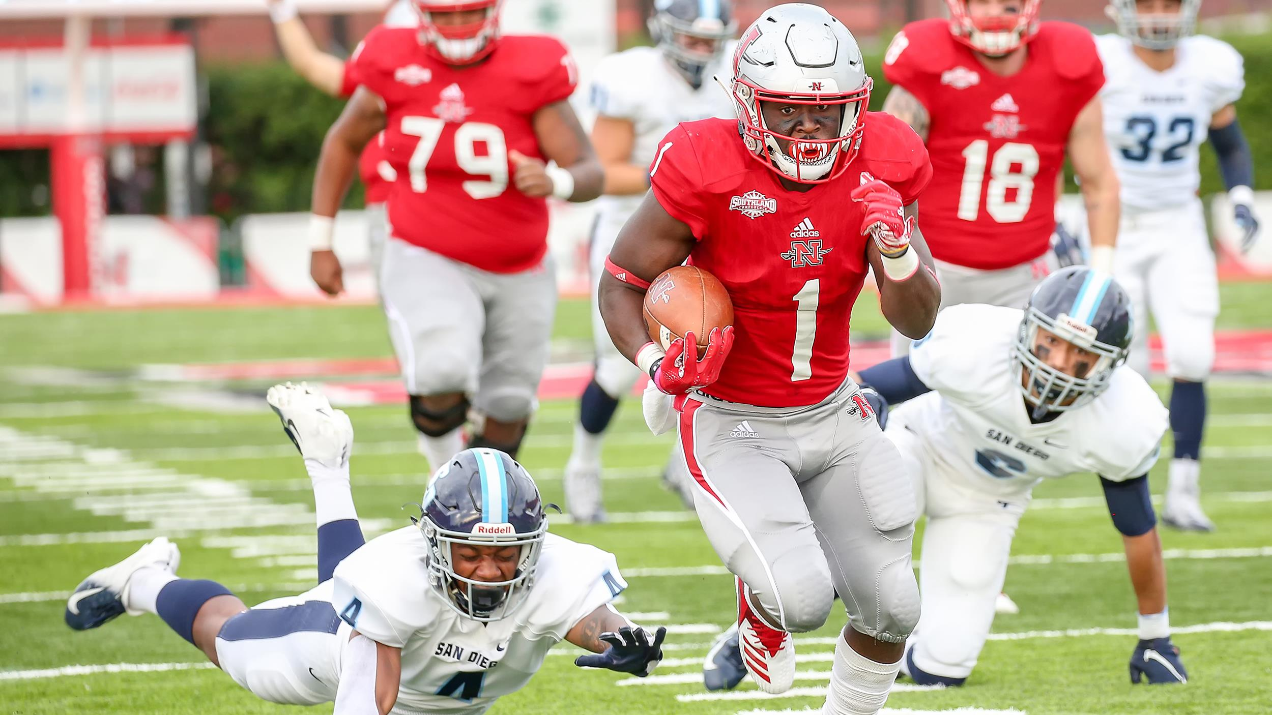 Nicholls moves to second round in FCS playoffs with 49-30 win over San Diego